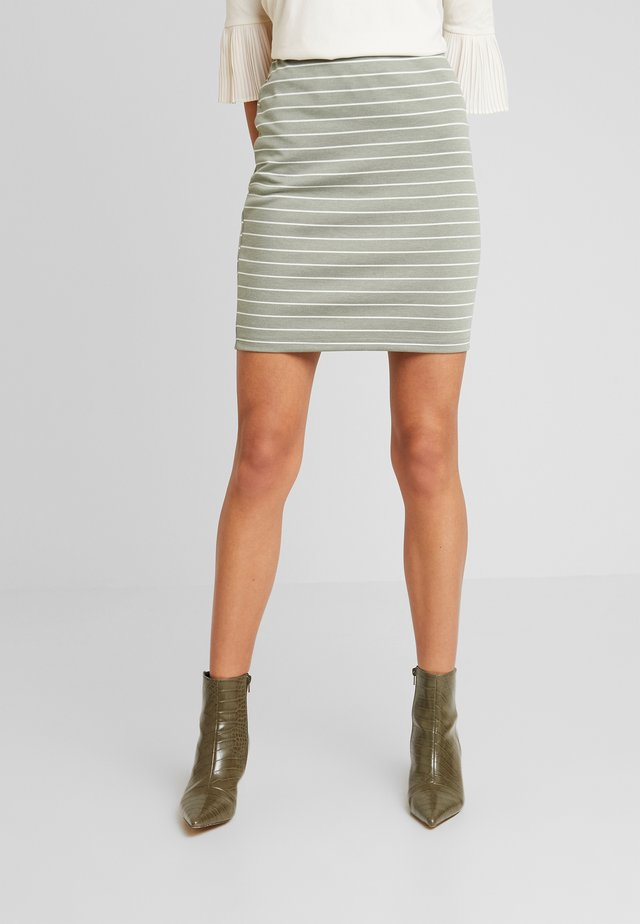 BYRIZETTA SKIRT - Mini skirt - sea green