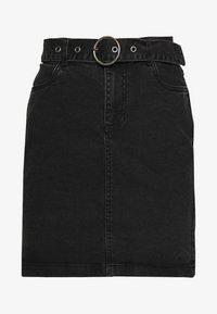 b.young - BYKIRI SKIRT - Denim skirt - faded black denim - 3