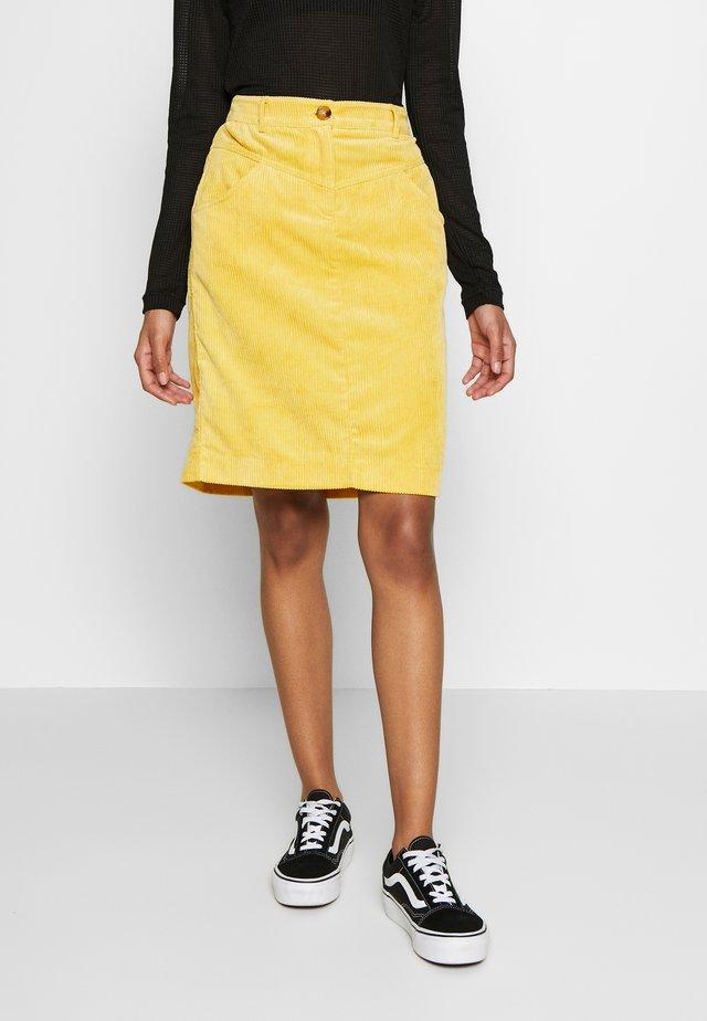 BYELIN SKIRT - - Spódnica ołówkowa  - cornsilk