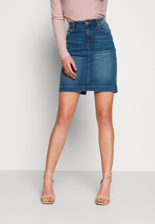 BYPULLY SKIRT - Denim skirt - blue denim