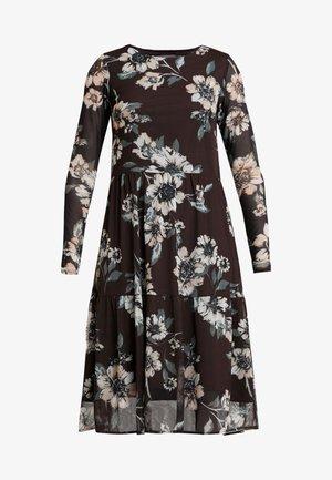 BYSILVI DRESS - Kjole - chocolate brown combi
