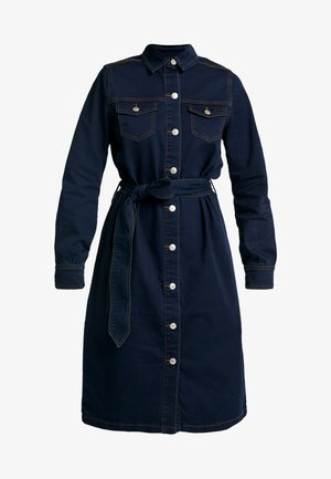 BYLIKA DRESS BELT - Spijkerjurk - dark rinse blue