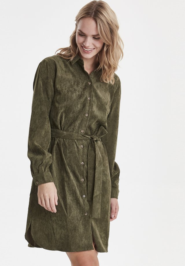 BXELEXIA  - Shirt dress - olive night