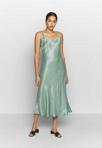 b.young - BYHALIMA SLIP IN DRESS - Day dress - sea green - 0