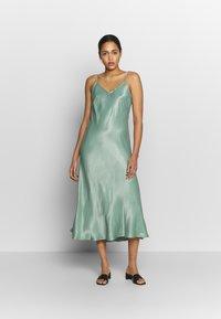 b.young - BYHALIMA SLIP IN DRESS - Day dress - sea green - 1