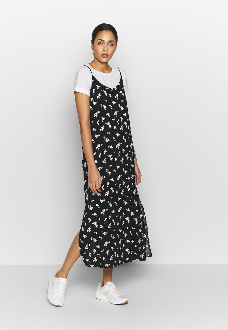 b.young - BYISOLE SLIP IN DRESS  - Maxikjole - black combi