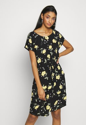 BYISOLE O NECK DRESS  - Kjole - black combi