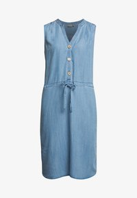 b.young - BYLANA SLEEVELESS DRESS - Denim dress - medium blue denim - 4