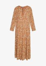 HILDA LONG DRESS - Maxikjole - safari brown combi