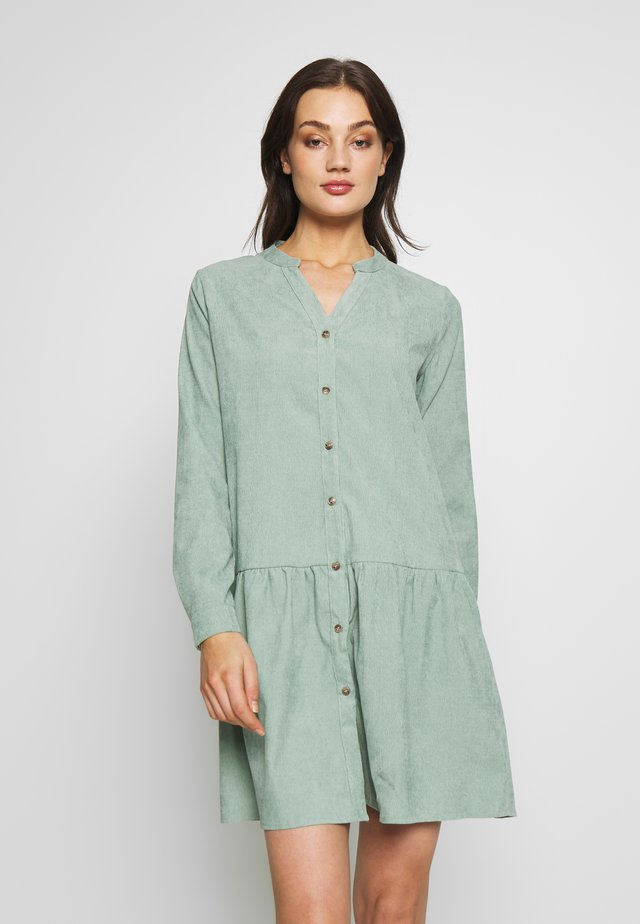 BXELEXIA PEPLUM DRESS - Shirt dress - sea green