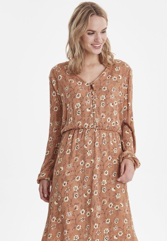 BYHILDA - Day dress - safari brown