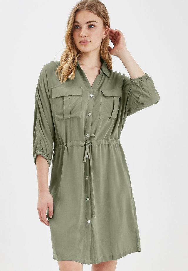BYHELENE SHIRT DRESS - LIGHT WOVEN - Paitamekko - sea green
