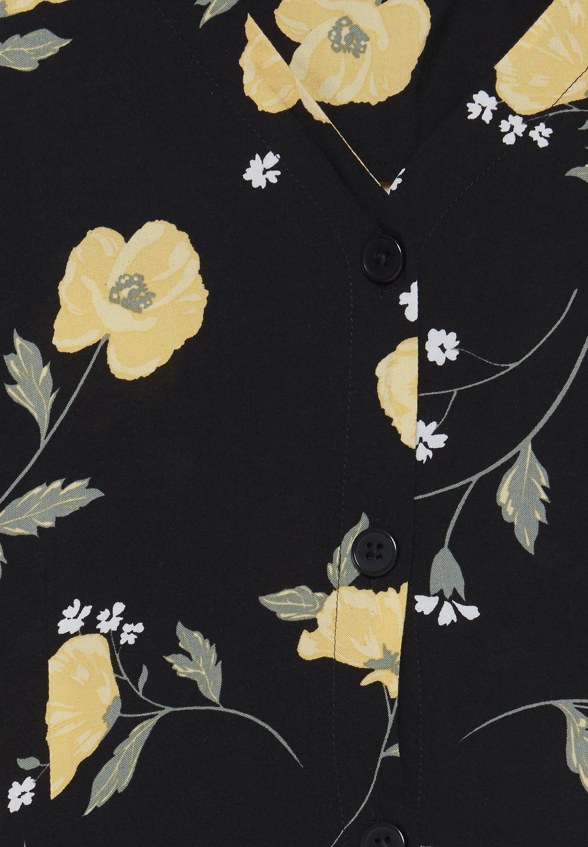 b.young BYISOLE LONG SS DRESS - LIGHT WOVEN - Sukienka koszulowa - black