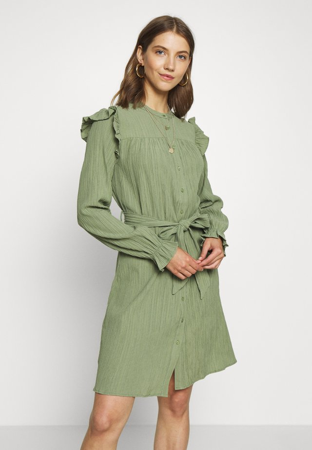 DRESS - Shirt dress - sea green