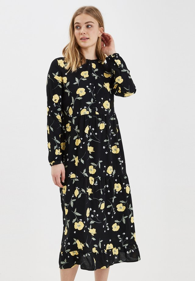 BYISOLE LONG DRESS - LIGHT WOVEN - Paitamekko - black combi 2