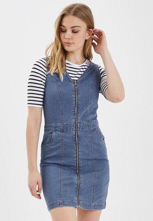 B.YOUNG BYLIKA SLEEVELESS DRESS - HEAVY WOVEN - Sukienka jeansowa - blue