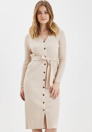 BXNEEL DRESS KNIT - Shift dress - beige