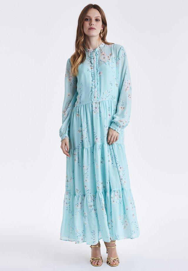 BYGRACIE - Maxi dress - bleached aqua combi