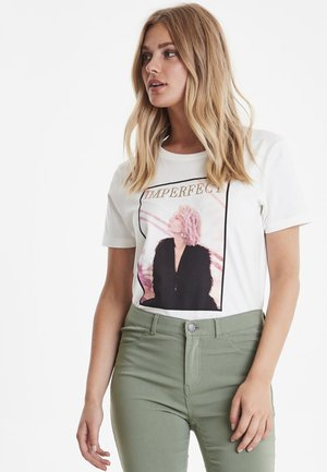 BYPANDINA - T-shirt con stampa - off white