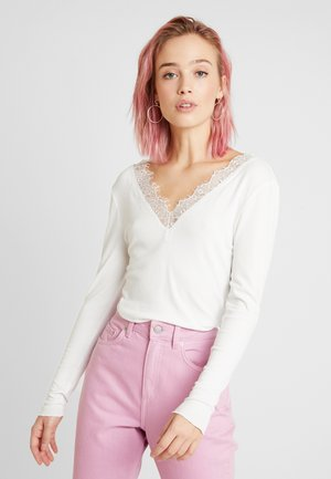 BYTOELLA VNECK - Long sleeved top - off white