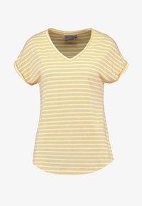 b.young - BYPAMILA VNECK - T-shirts med print - cornsilk combi - 3