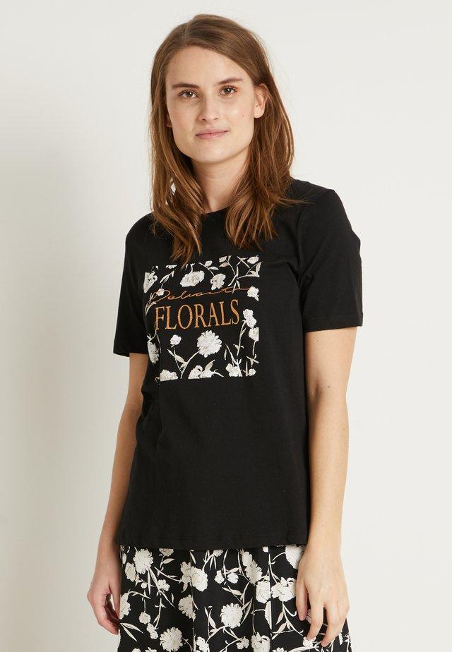 BYSAMIA FLORAL  - Print T-shirt - black