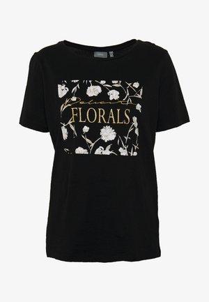 BYSAMIA FLORAL  - T-shirt imprimé - black