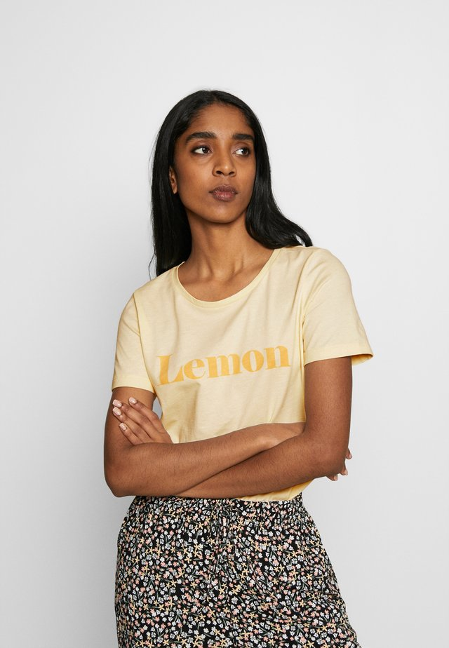 BYPLANET - T-Shirt print - light yellow