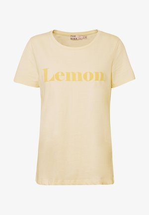 BYPLANET - T-shirts med print - light yellow