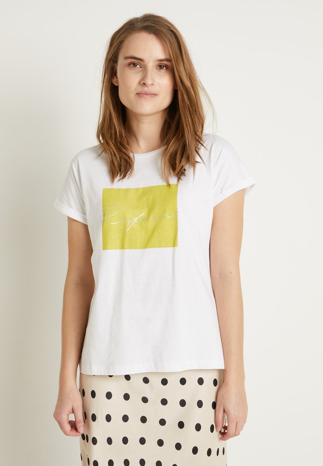 BYSAMIA REFRESH - Print T-shirt - optical white