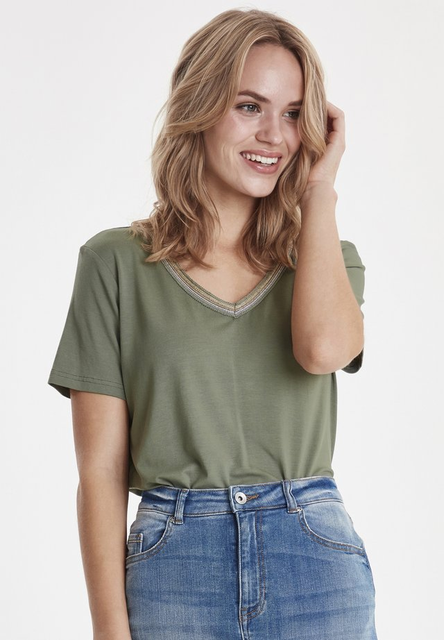 Print T-shirt - sea green