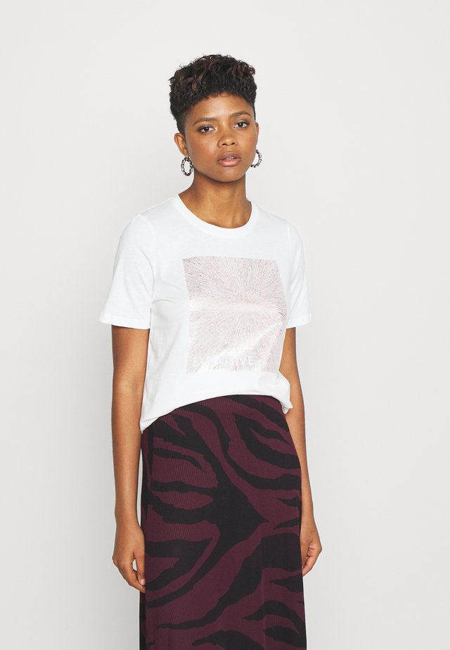 SEMONE  - Print T-shirt - off white