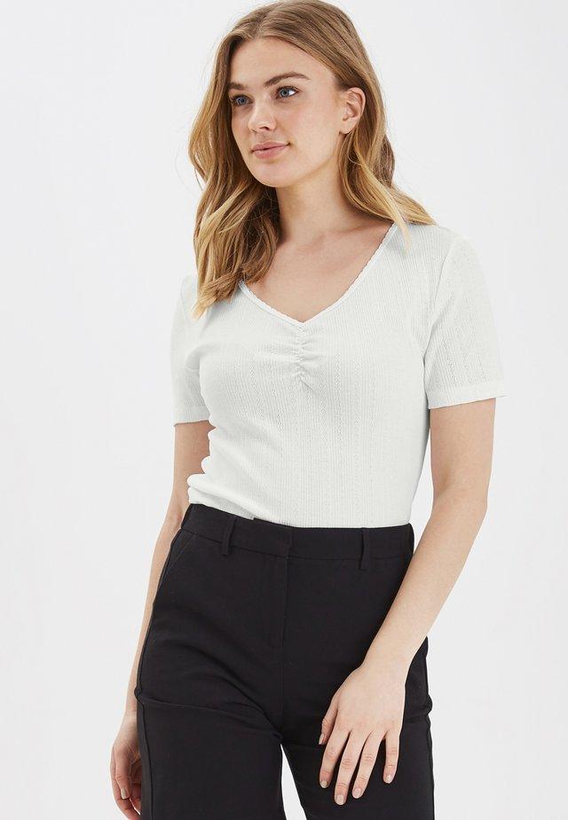BYSILLA BLOUSE - POINTEL - T-shirt z nadrukiem - off white
