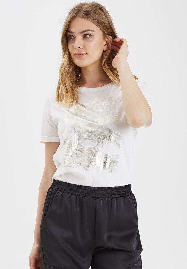 BXTINKI  TURN UP TSHIRT - JERSEY - T-shirt print - white