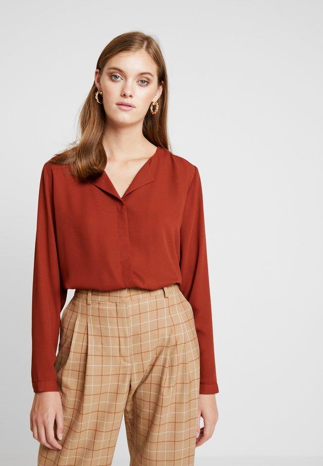HIALICE - Button-down blouse - dark copper