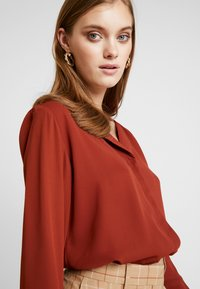 b.young - HIALICE - Button-down blouse - dark copper