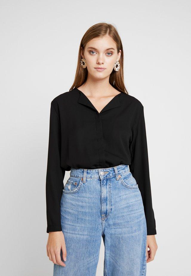 HIALICE - Button-down blouse - black