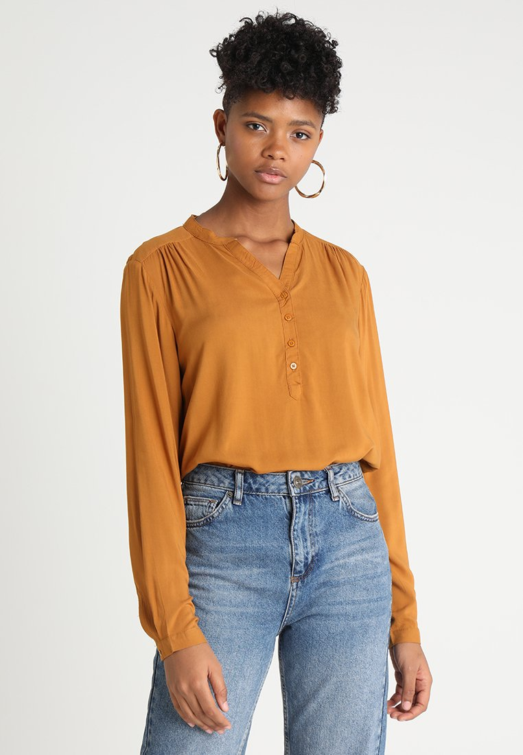 b.young - JAYLEEN PLACKET BLOUSE  - Blouse - mustard yellow