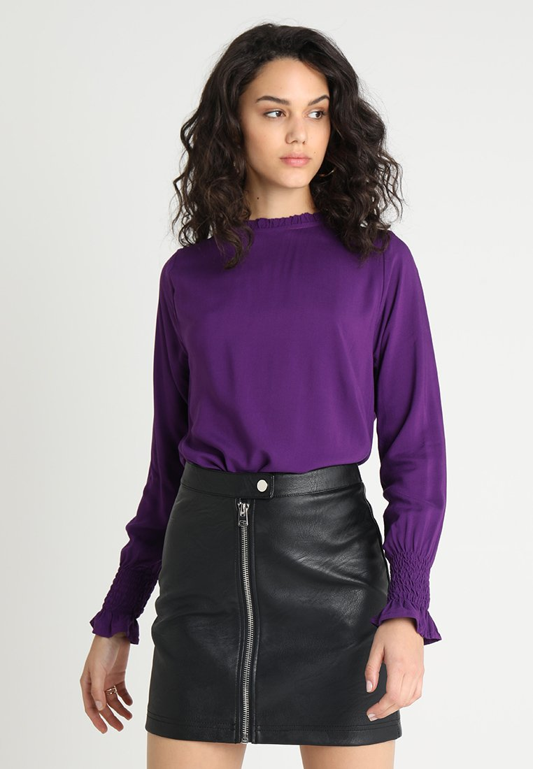 b.young - JAYLEEN SMOCK BLOUSE - Blus - imperial purple