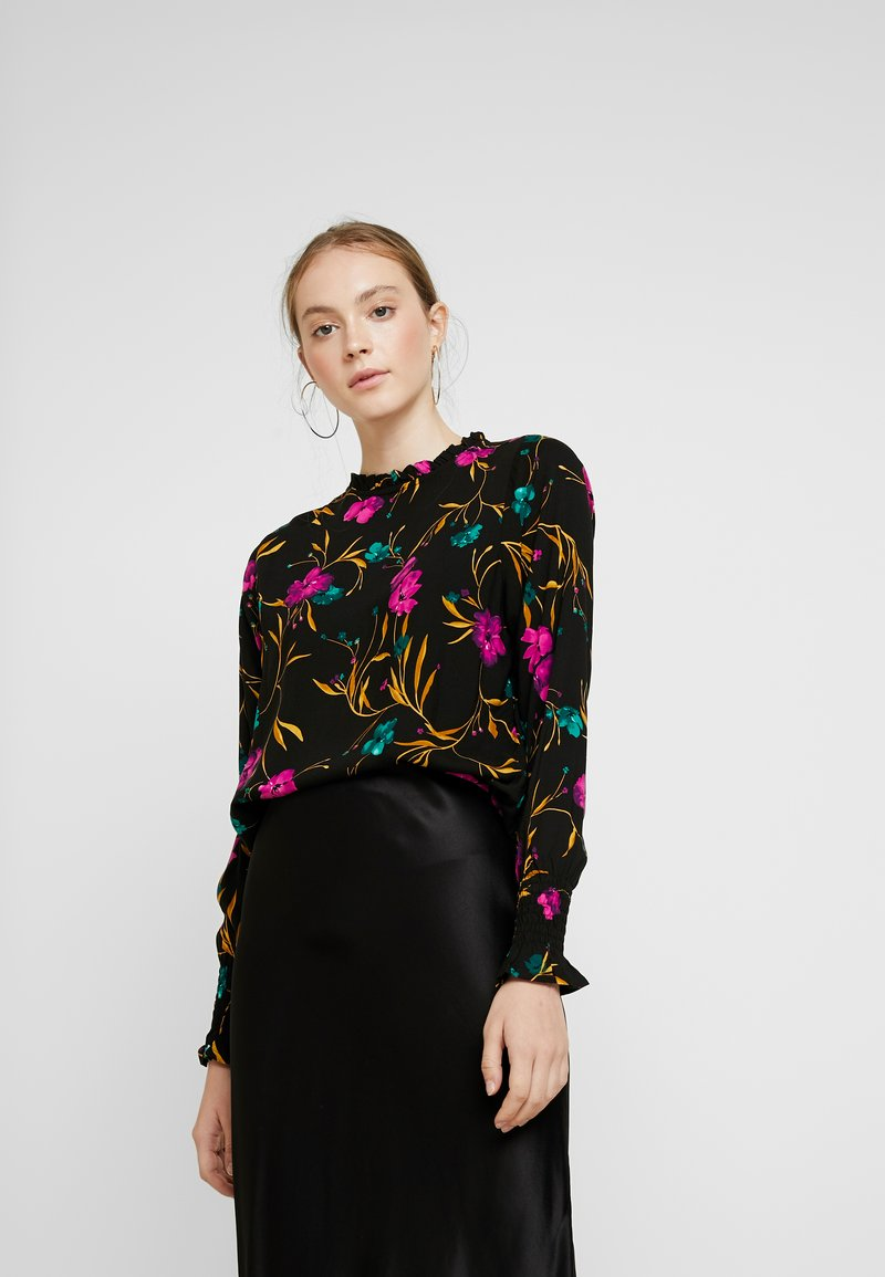 b.young - JAYLEEN SMOCK BLOUSE - Blouse - black combi