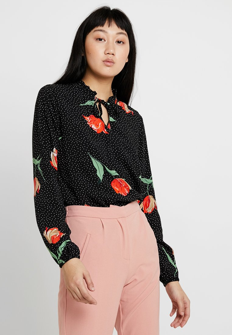 b.young - BYHAILEY FRILL BLOUSE - Pusero - black