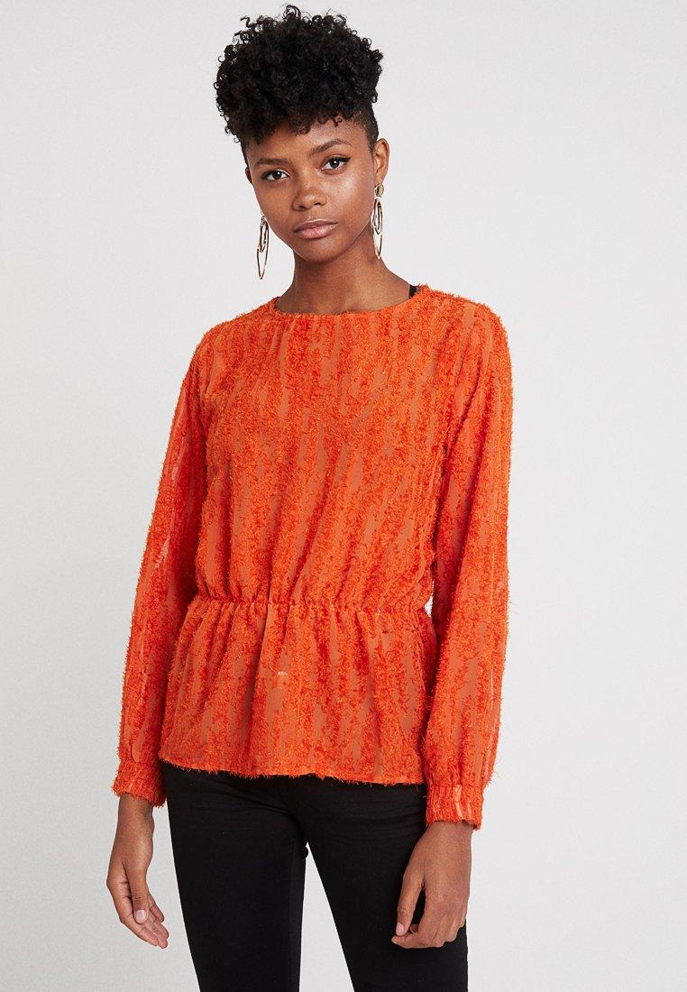 b.young - BXTHERESE BLOUSE - Blusa - tulip orange