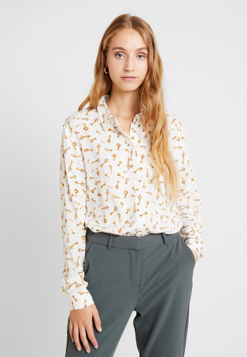 b.young - BYFRICHE PRINT - Button-down blouse - off-white