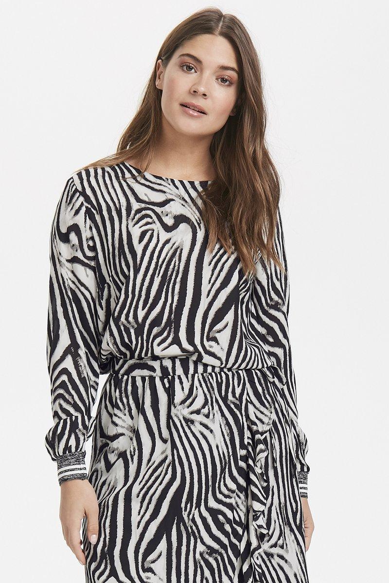 b.young - BXHIMMA  - Bluse - zebra combi