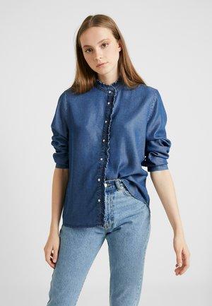 BYDENO - Button-down blouse - blue denim