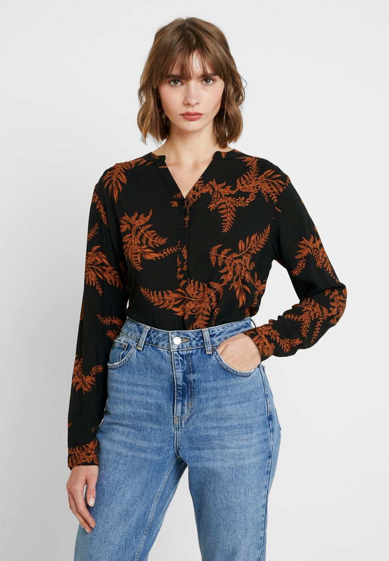 b.young - BYGITTEN PLACKET BLOUSE - Blouse - black