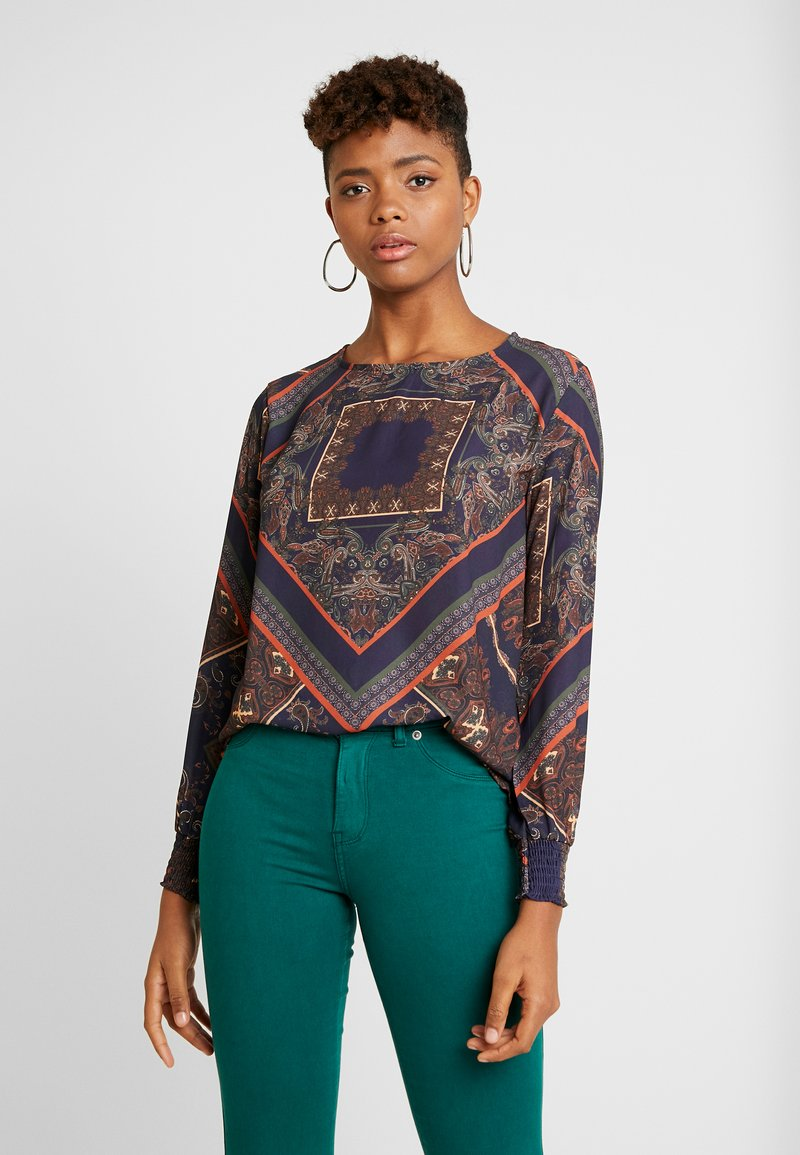 b.young - SMOCK BLOUSE - Blusa - blue combi