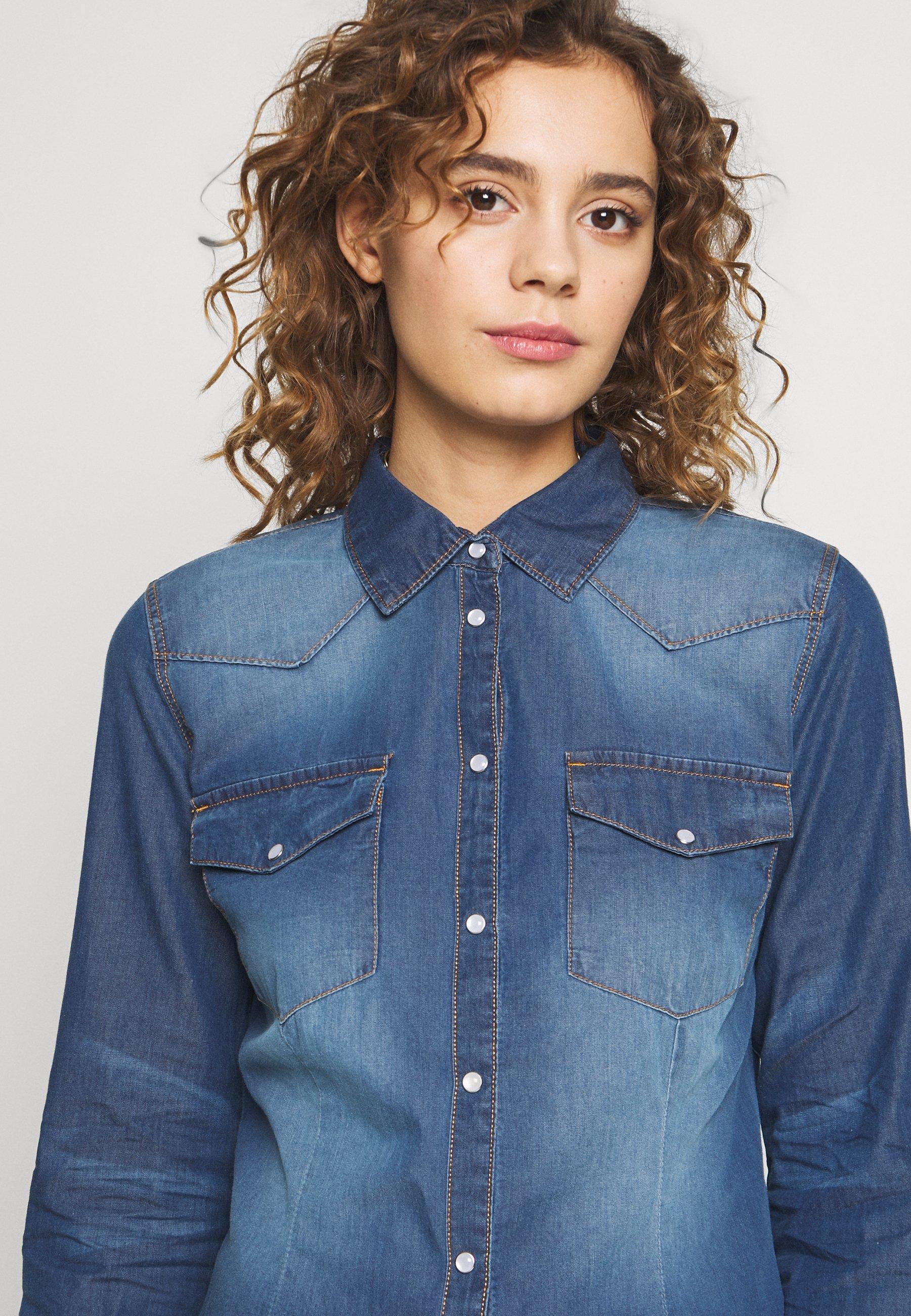 b.young BYDENNI WESTERN - Koszula - med blue denim