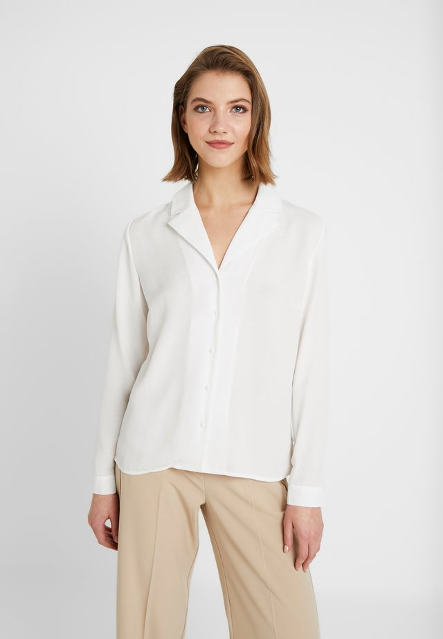 BYJANET - Button-down blouse - off white