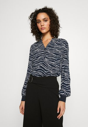JANESSA V-NECK - Blouse - copenhagen night combi
